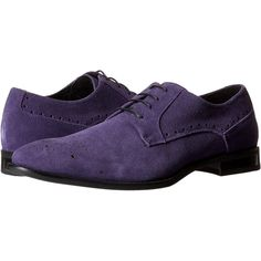 Stacy Adams Kensingston (Purple Suede) Men's Plain Toe Shoes ($50) ❤ liked on Polyvore featuring men's fashion, men's shoes, purple, stacy adams mens shoes, mens suede shoes, mens lace up shoes, mens purple shoes and mens suede lace up shoes