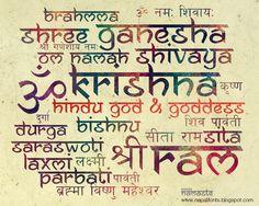 Typography using Ananda Namaste font