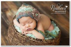 Image of Crocheted Stella Bonnet - Self Striping Yarn