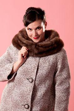 Vintage 1960s Golet Original Coat #vintage #coat #brocade #minkcollar #golet #winterfashions #plussize @Etsy