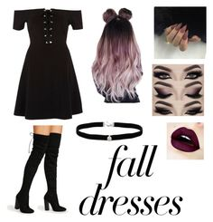 fall dresses by btszsofi on Polyvore featuring polyvore fashion style River Island Amanda Rose Collection Urban Decay clothing