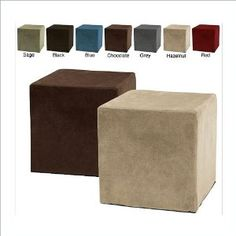 Hazelnut Comfort Magic Deluxe Memory Foam Cube Ottoman