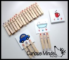 CVC Word Cards with