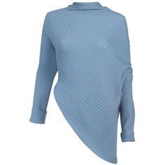 Asymmetric Rib Knit Sweater