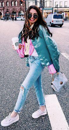 outfit idea - denim on denim