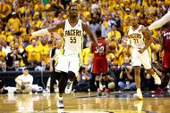 Eastern Conference Finals: Game 6 | (3) Indiana #Pacers over (1) Miami #Heat 91-77. Series tied 3-3.