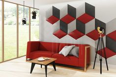dappi - Galeria - panele tapicerowane, dekoracyjne, ścienne Bed Headboard Design, Bedroom Bed Design, Headboards For Beds, Kids Bedroom, 3d Kitchen Design, 3d Wall Panels, Luxury Sofa, Design System, Loft Design
