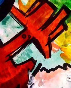 Técnica mixta sobre papel Detalle  En proceso  26 x 37 cm  #arte #art #painting #paint #expressionism #colors #colores #pintura #mix #texture #texturas #drawing #draw #acrylic #watercolor #red #violet #pencil #acuarela #paper #green #heart #universe #magical #organic #mystery #contemporaryartist #contemporaryart #workinprogress #fluidart