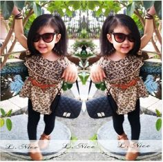 Girls 2 PC Leopard Outfit ~ ONLY $19.99 ~ Buy At: http://www.dashingbaby.com/collections/baby-girls-clothes/products/girls-2-pc-leopard-outfit