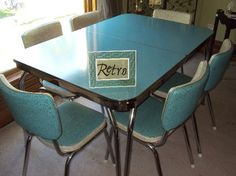 Similar Table But Mine Is Black With White Specks And Black Trim. No  Chrome. Retro Table And ChairsFormica ...