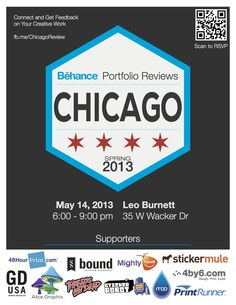 Behance Chicago Spring 2013 Poster #BehanceReviews #Be_Chicago