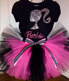 Rhinestone Barbie Birthday Tutu Outfit or Set sizes to on Etsy… Barbie Party Decorations, Barbie Theme Party, Barbie Birthday Party, Birthday Party Outfits, Birthday Tutu, 5th Birthday, Birthday Ideas, Paris Birthday Parties, Bday Girl