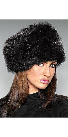 Black Fox Faux Fur Russian-Style Hat | Fabulous-Furs
