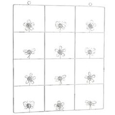 12-Opening Flower Wallframe Photo Holder