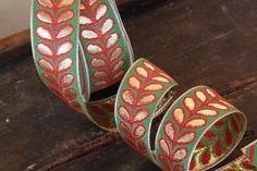 Garden Plume / Ribbon Sari Border / India 1 1/4 by WomanShopsWorld, $3.85