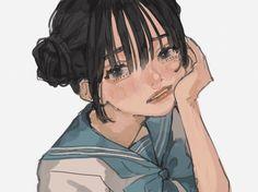 Anime Art Girl, Manga Art, Pretty Art, Cute Art, Aesthetic Art, Aesthetic Anime, Character Illustration, Illustration Art, Arte Sketchbook