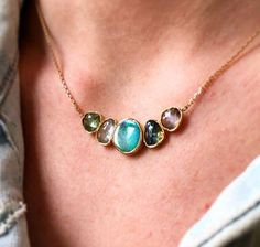Brooke Gregson Opal and Sapphire Orbit Necklace at TWISTonline.com