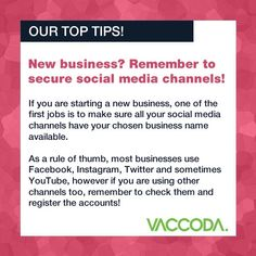 Don't forget to keep your social media updated! If you have social media accounts, remember to post at least once a day. Having accounts that aren't updated in months can give your business a bad image Thick Business Cards, Business Names, Social Media Updates, Social Media Channels, Bad Image, Existing Customer, Web Design Agency, One Job, Better One