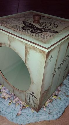 Shaby Chic, Vintage Box, Scrap, Hope Chest, Furniture Makeover, Handmade Crafts, Ideas Para, Decorative Boxes, Arts And Crafts