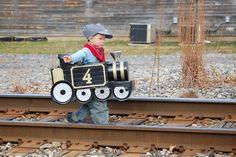 Boy DIY Train Halloween Costume Idea
