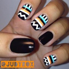 I love the design, but I would make them all black except my thumb and ring finger.