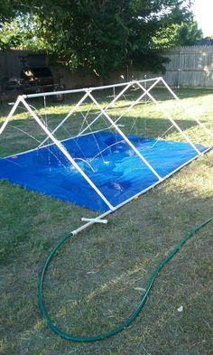 Pvc water sprinkler/slip n slide