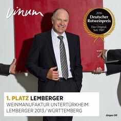 #DeutscherRotweinpreis Doppelsieg für die Weinmanufaktur Untertürkheim: 1. Platz Lemberger: ***Württemberg 2013 UND «Roter Riese 2016» #RWP
