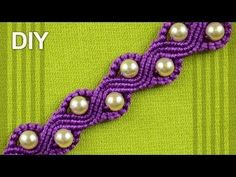 ▶ How to Make a SNAKE or a WAVE Macrame Bracelet with Beads - YouTube