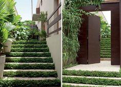 Escadas_Grama sim, grama não  (Foto: Edu Castello e Evelyn Müller)