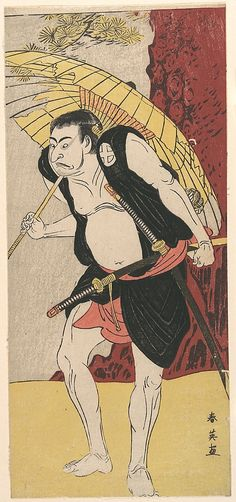 The Actor Otani Oniji  Katsukawa Shun'ei  (Japanese, 1762–1819)  Culture: Japan Medium: Polychrome woodblock print; ink and color on paper
