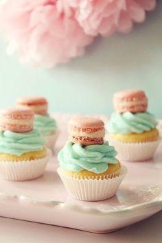 Mini French Macaron Cupcakes