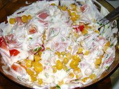 Quesadillas recept két féle töltelékkel recept lépés 7 foto Quesadilla, Potato Salad, Bacon, Grains, Potatoes, Keto, Breakfast, Ethnic Recipes, Food