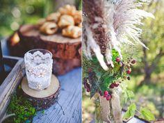 Feather centerpieces Wedding Inspiration