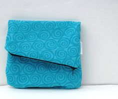 FoldOver Clutch Purse Medium Pouch Zipper by SmiLeaGainCreations, $20.00