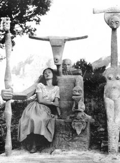 Max Ernst & Dorothea Tanning. We recently visited Seillans, France, where they lived and worked for some time.