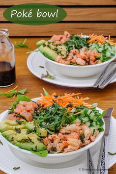 Bron: www. Poki Bowl, South Beach Diet, Good Food, Yummy Food, Buddha Bowl, Food Inspiration, Food To Make, Favorite Recipes, Lunch