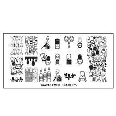 Kawaii Emoji XL Nail Art Stamping Plate Set - So Nailed It!