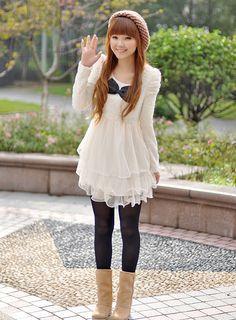 By younes el asraoui i. Japan Fashion, Kawaii Fashion, Lolita Fashion, Cute Fashion, Cute Dresses, Casual Dresses, Casual Outfits, Girly Outfits, Cute Outfits
