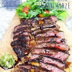 Steak with Teriyaki Glaze : The Best Teriyaki Steak Recipe - Asian at Home Lettuce Wrap Recipes, Chicken Salad Recipes, Steak Recipes, Riblets Recipe, Bulgogi Recipe, Teriyaki Steak, Teriyaki Glaze, Spicy Tomato Sauce, Tomato Sauce Recipe