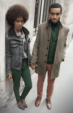 fashizblackdiary:    Daniela & Julien posing for french brand The Kooples (2011).