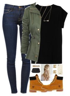 """""""School"""" by evieleet ❤ liked on Polyvore featuring Frame Denim, Isabel Marant, Jennifer Meyer Jewelry, Timberland, Palm Beach Jewelry, Kate Spade, Marc by Marc Jacobs and Dolce&Gabbana"""