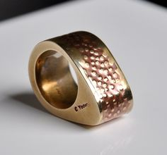 Brass Hollow Form Ring.