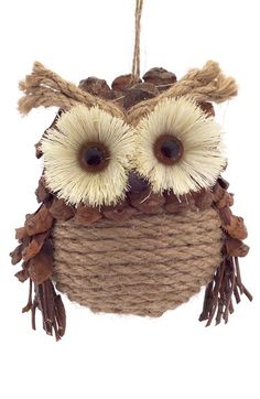 Melrose Gifts Pinecone Owl Ornament available at Owl Crafts, Burlap Crafts, Christmas Crafts, Christmas Decorations, Owl Ornament, Xmas Ornaments, How To Make Ornaments, Christmas Owls, Christmas Projects