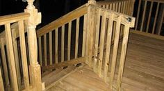 Build a simple deck gate that's attractive and up to code using new lumber or recycled railing material. Building A Gate, Deck Building Plans, Deck Plans, Porch Gate, Deck Gate, Stair Gate, Front Porch, Front Deck, Cool Deck