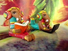 Eco-Friendly Laptop Ganesh and Book Ganesha