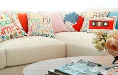 Decoración cojines urbano juvenil - Decoración cojines sofá