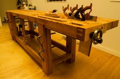 This is a killer workbench by Vic Hubbard. I'd love to have one like this some day.