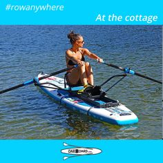 Cottage owners enjoy getting out on the lake rowing on their paddleboard and Oar Board® combination. Saltwater Fishing, Kayak Fishing, Fishing Boats, Sup Stand Up Paddle, Inflatable Paddle Board, Kayak Accessories, Cottage, Boat Rental, Paddle Boarding