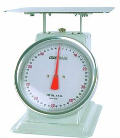 Crestware Heavy Duty Receiving Scale 10 Inch Dial Face 100 Pounce By Commercial Kitchenfood