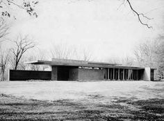 Goetsch-Winckler House / 2410 Hulett Rd., Okemos, Michigan / 1940 / Usonian / Frank Lloyd Wright -- A compact, one-story house with signature Wright design elements: organic relationship to the site, horizontal planes, cantilever roofs, and the embodiment of Wright's early design philosophy for moderately priced housing. Designed for MSU art professors, the Goetsch-Winckler House is on the National Register of Historic Places and is the second of Wright's Usonian house designs.